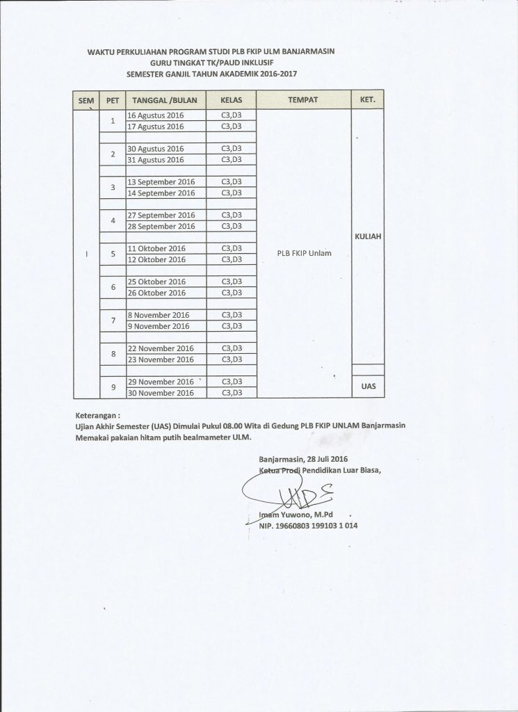 kelas C3 D3